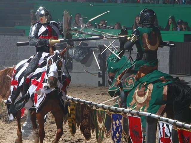 Children ages 3 and under may attend for free as long as they sit on a adult's lap and eat from the adult's plate. Service charges are included in the price of the Groupon. Although Medieval Times Dinner & Tournament occasionally features discounted admission online, this Groupon Price: $